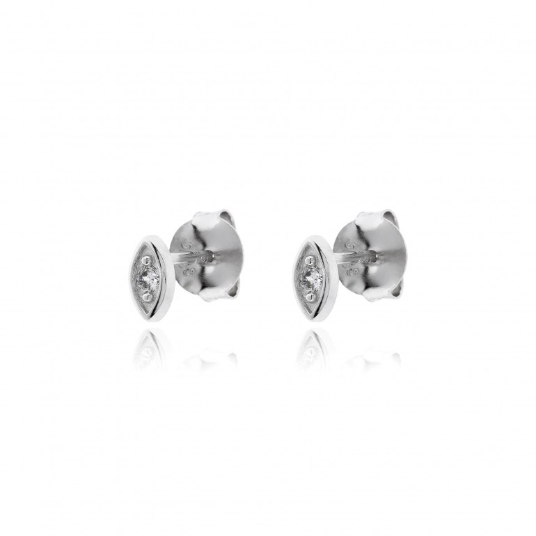Minipendientes eye plata