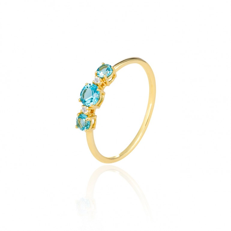 Anillo oro amarillo Sky Light