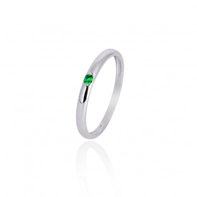 Anillo oro blanco Only Green